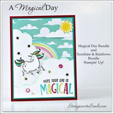 A Magical Day for Unicorns by Sandi at stampinwithsandi.com #stampinup #stampinwithsandi #sandimaciver #cardmaking #stampinupcardideas