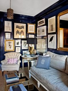 Currently Obsessing: Lacquered Walls | Brass Jones