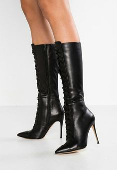 cc0eb16a0 Lace Up Boots, Black Boots, High Heel Boots, High Heels, Heeled Boots