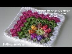 Daisy in the Corner Granny Square - Crochet Tutorial - YouTube