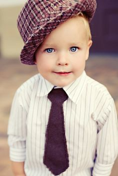 What a sweet lil boy