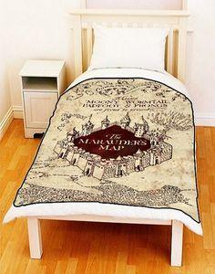 "Fleece Blanket - MARAUDERS MAP Harry Potter Fleece Blanket Bed Throw Size Medium 50"" x 60"" / Large 60"" x 80"" Ideal Gift"