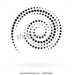 Spiral vector Illustration. Abstract swirl form with dots. Tornado vector illustration. Top view. Spiral background. Business spiral background. Technology spiral background. Swirl background