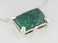 Artisan Collection Of Madagascar(Tm) Chrysocolla Malachite Silver Tone Copper Necklace