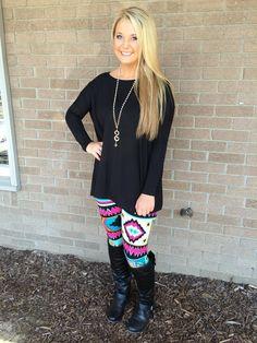 Hadlee Gray Boutique - Black Long Sleeve PIKO, $30.00 (http://www.hadleegrayboutique.com/black-long-sleeve-piko/)