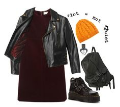 """""""Ashley Spinelli, Recess"""" by hey-there-deliah ❤ liked on Polyvore featuring Yves Saint Laurent, Beautiful People, Dr. Martens, Ann Demeulemeester and Fred Perry"""