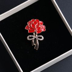 #Diamante #crystal red poppy flower pin brooch banquet broach for #women xmas gif,  View more on the LINK: 	http://www.zeppy.io/product/gb/2/272510088997/