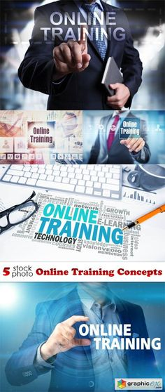 Online Training Concepts  stock images