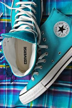 Turquoise converse.  I have yet to own a single pair of converse, unfortunately.