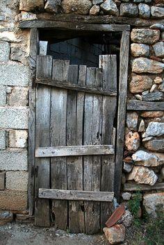 Mikrokastro Greece Door Door to a barn in the village