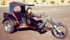 Alice Cooper with Rat Race Chopper VW Trike Motorcycles (RatRaceProductions.com)