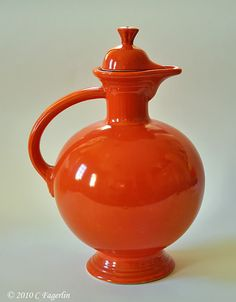 Fiestaware carafe that I want soooo bad!  Not in scarlet though...turquoise or green would be divine!