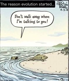 Funny pictures about Why Evolution Started. Oh, and cool pics about Why Evolution Started. Also, Why Evolution Started photos. Haha Funny, Funny Jokes, Hilarious, Funniest Memes, Bizarro Comic, Science Memes, Science Signs, Funny Science, Humor Grafico