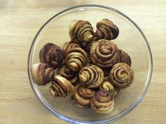 Week 2 and Anita's cinnamon swirls draw with Sue's spiced apple cake.  Well done ladies!