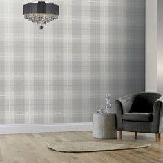 Country Tartan by Arthouse - Grey - Wallpaper : Wallpaper Direct Grey Plaid Wallpaper, Charcoal Wallpaper, Chalet Interior, True Colors, Home Art, Tartan, Taupe, Living Room, Country