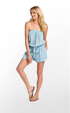 Lilly Pulitzer's Colleen Romper - swimsuit cover-up