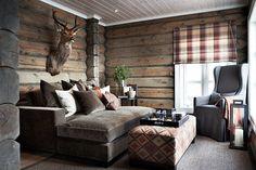 scandinavian lodge interior | Stockholm Vitt - Interior Design: Chic Ski Lodge. Colors, fabrics. What kind of chair is that? Pretty neat.