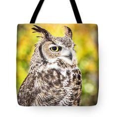 #GreatHornedOwl #tote #bag #wallart #colorful #canvas #utahartist
