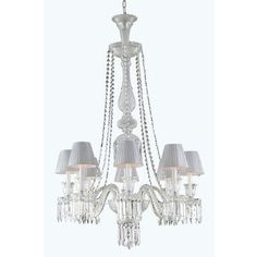 Majestic 8 Light Crystal Chandelier - http://chandelierspot.com/majestic-8-light-crystal-chandelier-604566005/