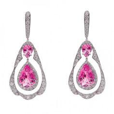 Sapphire and diamond earrings by Gumuchian