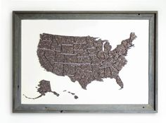 I want to make this so bad! I can pin all the cities and states I've been to with the month and year! #crafts