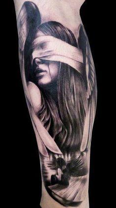 Realistic Angel Tattoo by Silvano Fiato | Tattoo No. 3728