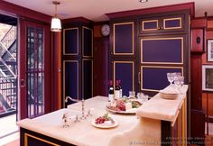 #Kitchen Idea of the Day: Blue Kitchen Cabinets. (By Crown Point Cabinetry)