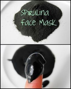 DIY Spirulina Face Mask - apparently this makes everyone look amazing. Worth a try :).