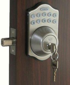 digital electronic keypad keyless entry door lock deadbolt sn