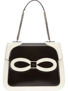 MOSCHINO CHEAP and CHIC Monochrome Leather Bag