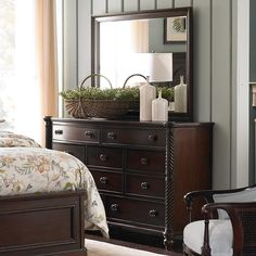 """Moultrie Park Bow Front Dresser by Bassett Furniture. Inspired by Charleston """"Finds"""" from the famous antique shops on King Street."""