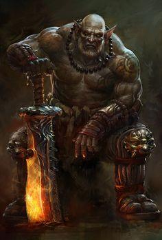 Creative Fantasy, Golem, Rpg, Illustrations, and Illustration image ideas & inspiration on Designspiration High Fantasy, Dark Fantasy Art, Fantasy Artwork, Fantasy Races, Fantasy Kunst, Fantasy Rpg, Medieval Fantasy, Fantasy Warrior, Orc Warrior