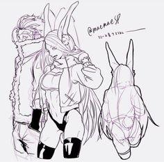 Mirko and Hawks - Awesome bunny My Hero Academia Memes, Hero Academia Characters, My Hero Academia Manga, Character Art, Character Design, Cool Sketches, Female Anime, Ship Art, Boku No Hero Academy