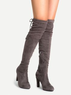 Shop Coffee Faux Suede Lace Up Side Zipper Over The Knee Boots online. SheIn offers Coffee Faux Suede Lace Up Side Zipper Over The Knee Boots & more to fit your fashionable needs.