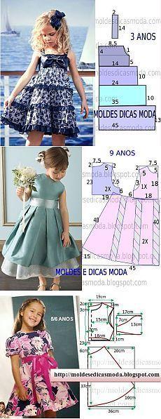 "diy_crafts-Frocks ""Little girl dresses"", ""adorable infant cute little girls dress pattern."", ""diagrams for young girls' dresses"", ""The m Fashion Kids, Fashion Sewing, Toddler Fashion, Fashion Games, Little Dresses, Little Girl Dresses, Girls Dresses, Baby Dresses, Dress Girl"