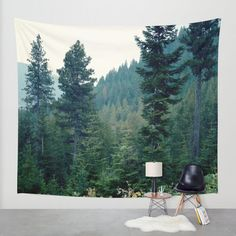 Tree tapestry woods nature wall tapestry forest by OurArtCloset