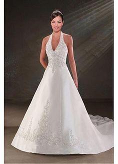 Robe de mariage pas cher satin avec ruban  Robes de mariée ...