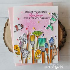 Waffle Flower Little Painters Card by Nichol Spohr. Doodle Art Designs, Bullet Journal Writing, Hand Lettering Quotes, Art Drawings Sketches Simple, Bullet Journal Inspiration, Flower Cards, Diy Canvas Art, Origami, Birthday Cards