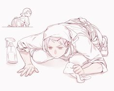 Prussia cleaning // Hetalia / Shockingly, he's almost more thorough than Germany. Prussia Hetalia, Hetalia Anime, Hetalia Fanart, Hottest Anime Characters, Hetalia Characters, Fictional Characters, Gilbert Beilschmidt, Bad Touch Trio, Another Anime