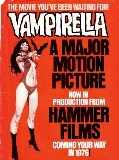"Movie poster for Hammer Horror, ""Vampirella"""