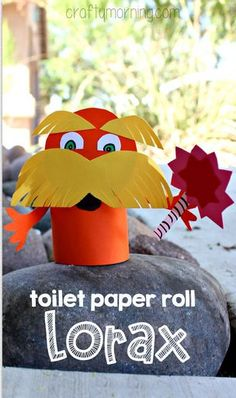 Lorax Toilet Paper Roll Craft For Kids (Dr. Suess art project) | CraftyMorning.com