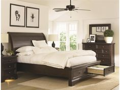 Bayfield Queen Sleigh Bed w/ storage. Beautiful! http://www.starfurniture.com/Bayfield-Queen-Sleigh-Bed-wStor/KT%3a85050-1497/ItemInformation.aspx