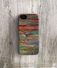 Colorful iPhone 5 case Rainbow iPhone 5s case Wood by TonCase, $25.99