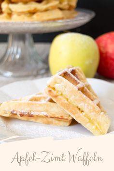 Waffeln mit Äpfeln, Zimt und Vanille
