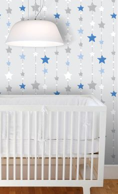 Removable Fabric Wallpaper Twinkle Little Star by BCMagicSticker