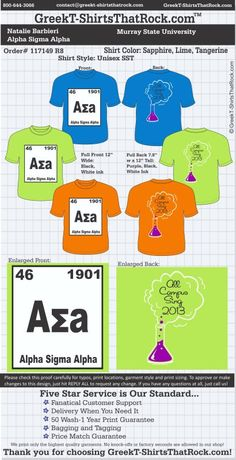 Alpha Sigma Alpha T-Shirts That Rock 117149proofR8 ...................................................WORK 1 ON 1 with a member of our design team until your T-Shirt ideas are perfect.... and ALWAYS them on in time (before you even need them) at the price you want! ...................................................................................................... JUST CLICK THIS IMAGE TO GET STARTED!