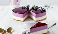 Baking Recipes, Cookie Recipes, Dessert Recipes, Fancy Desserts, Delicious Desserts, Cheesecake Recipes, Blueberry Cheesecake, Sweet Cakes, Mini Cakes