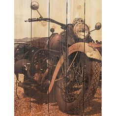 """Classic Ride Cedar Wall Art-28"""" x 36"""" (4.745 CZK) ❤ liked on Polyvore featuring home, home decor, wall art, textured wall art, outdoor wall art, outside home decor, sun wall art and outside wall art"""