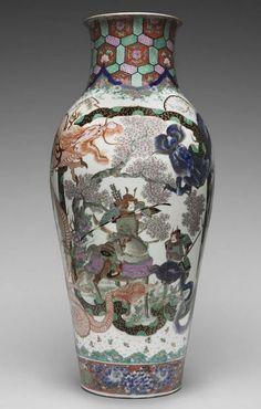 World's Fair of 1876 : Fukagawa Yeizaemon, Vase presented in Philadelphia in Philadelphia Museum of Art. Ancient Greek Words, Exhibition Building, Philadelphia Museum Of Art, Architectural Antiques, World's Fair, French Artists, Art Museum, Sculptures, Vase