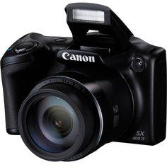 KaBuM! - Câmera Digital Canon PowerShot SX400 IS 16MP, LCD 3´, Filma em HD, Zoom Óptico 30x - Preta